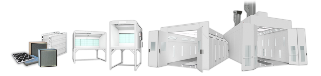 spray booth and equipment